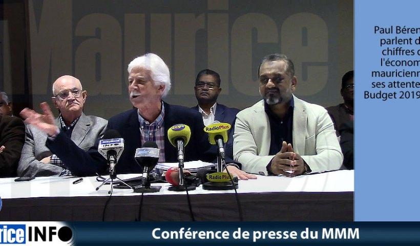 Conférence de presse du MMM du 8 Juin 2019
