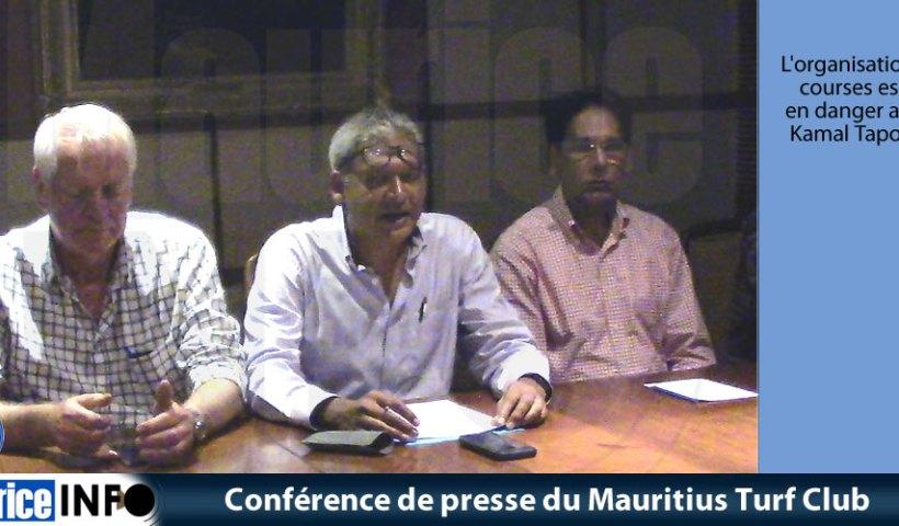 Conférence de presse du Mauritius Turf Club
