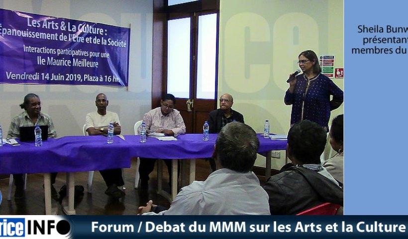 Forum Debat du MMM sur les Arts et la Culture