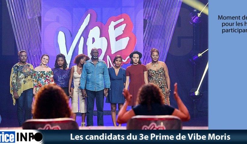 Les candidats du 3e Prime de Vibe Moris
