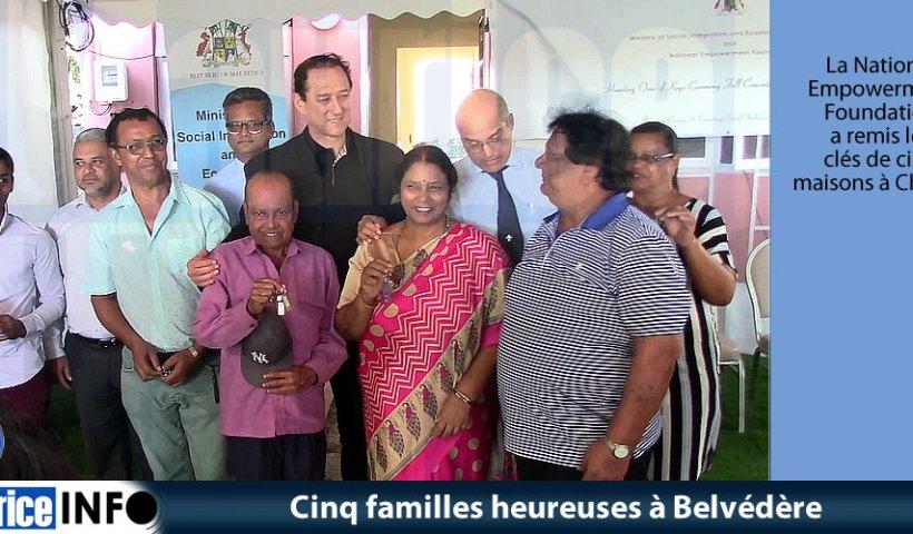 Cinq familles heureuses à Belvédère