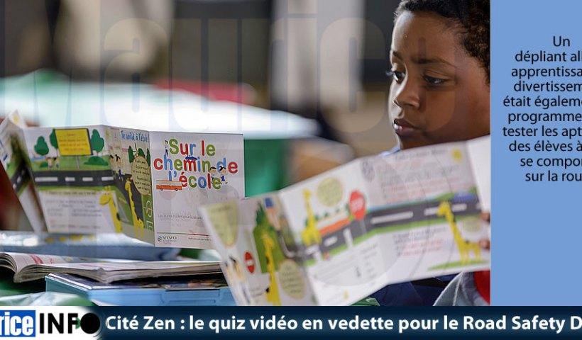 Cité Zen le quiz vidéo en vedette pour le Road Safety Day