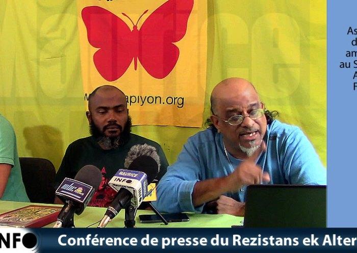 Conférence de presse du Rezistans ek Alternativ du 13 Juillet 2019
