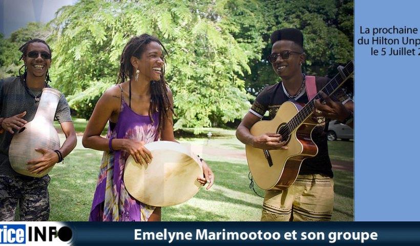 Emelyne Marimootoo et son groupe