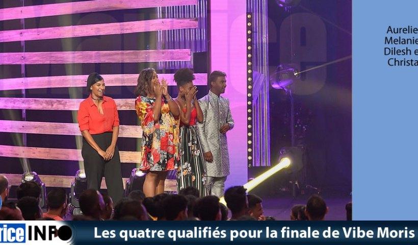 Les quatre qualifiés pour la finale de Vibe Moris