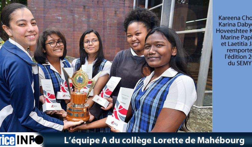 L'équipe A du collège Lorette de Mahébourg