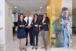 L;équipe de MCB Microfinance