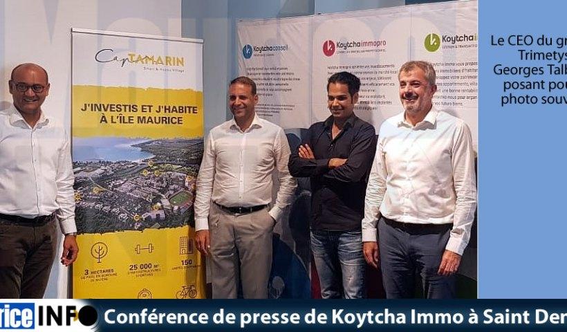Conférence de presse de Koytcha Immo à Saint Denis