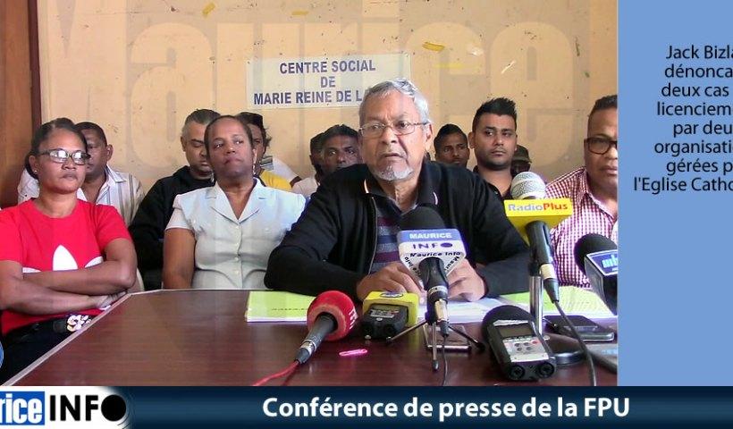Conférence de presse de la FPU