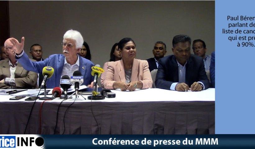 Conférence de presse du MMM du 3 Août 2019
