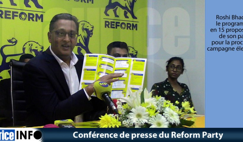 Conférence de presse du Reform Party du 2 Août 2019
