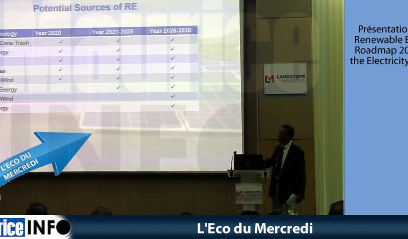 L'Eco du Mercredi Renewable Energy Roadmap 2030 for the Electricity Sector