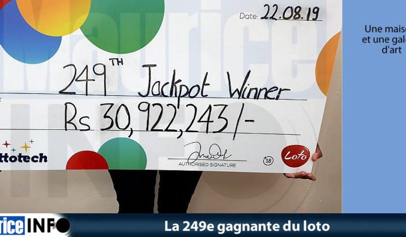 La 249e gagnante du loto