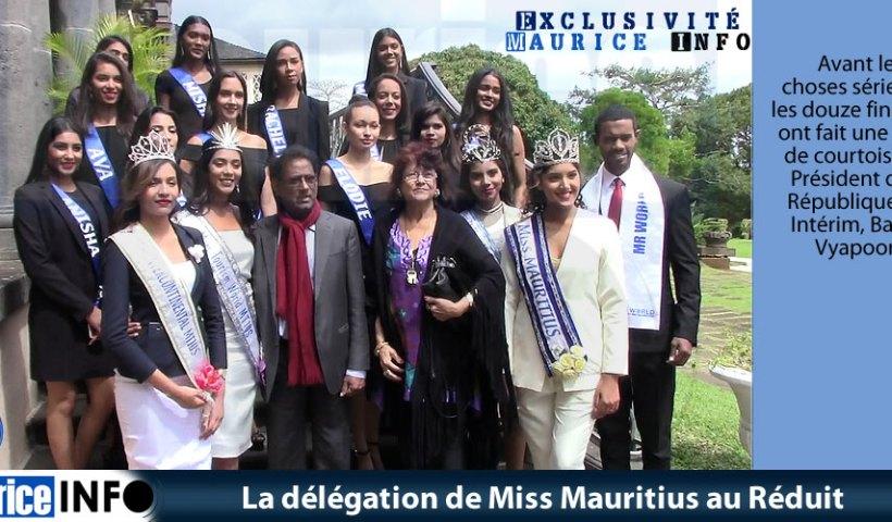 La délégation de Miss Mauritius au Réduit