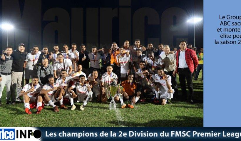 Les champions de la 2e Division du FMSC Premier League