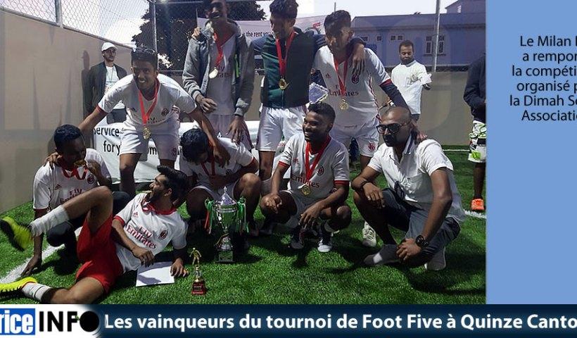 Les vainqueurs du tournoi de Foot Five à Quinze Cantons