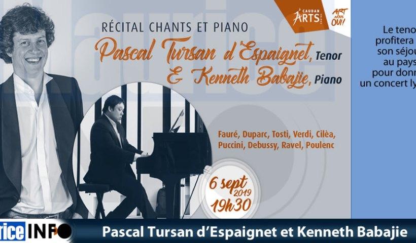 Pascal Tursan d'Espaignet et Kenneth Babajie