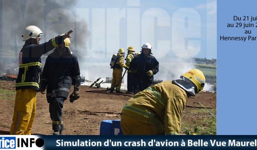Simulation crash avion à Belle Vue Maurel