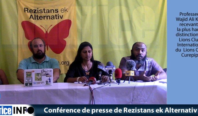 Conférence de presse de Rezistans ek Alternativ