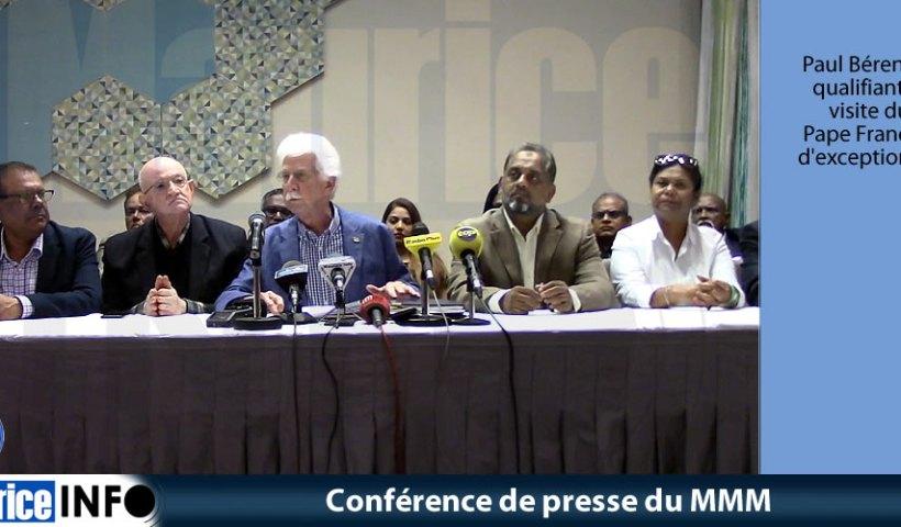Conférence de presse du MMM du 15 Septembre 2019
