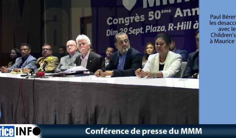 Conférence de presse du MMM du 22 Aout 2019