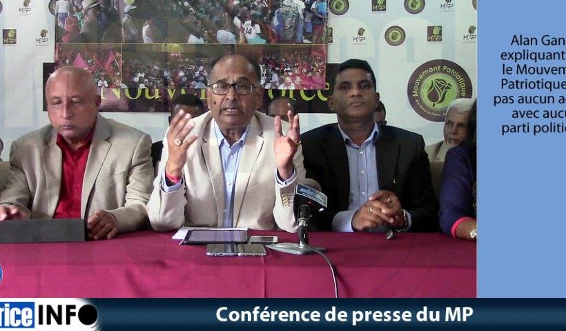 Conférence de presse du MP du 22 Septembre 2019