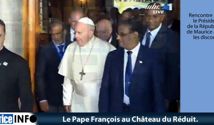 Le Pape François au Château du Réduit. © Images MBC