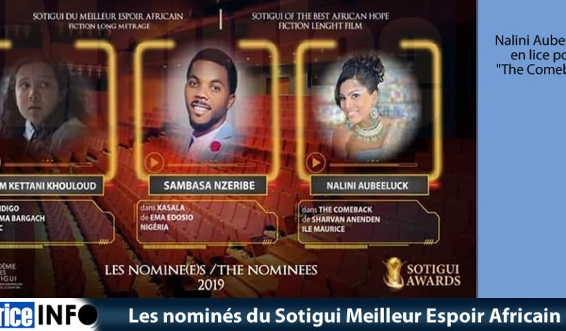 Les nominés du Sotigui Meilleur Espoir Africain