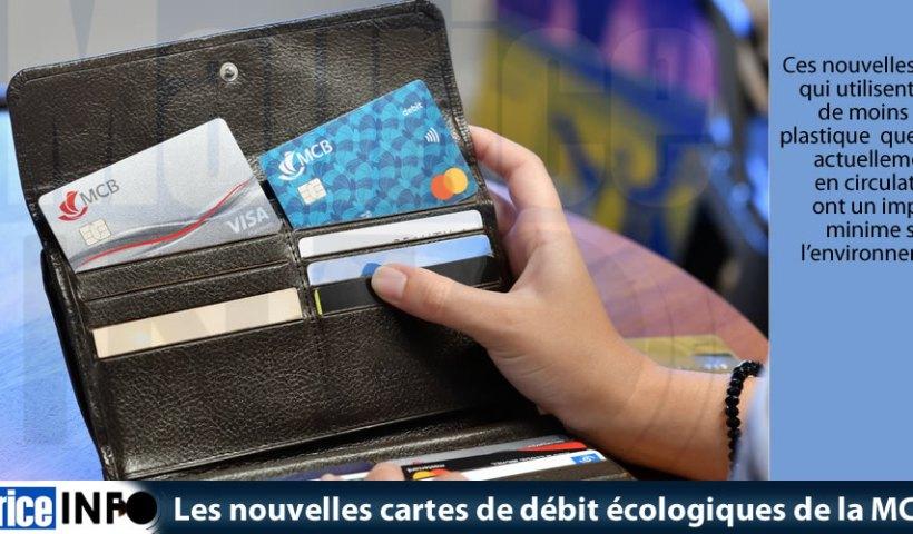 Les nouvelles cartes de débit écologiques de la MCB