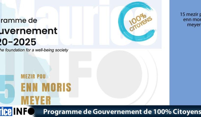 Programme de Gouvernement de 100 Citoyens