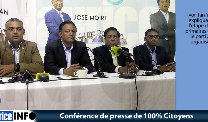 Conférence de presse de 100% Citoyens du 11 Octobre 2019