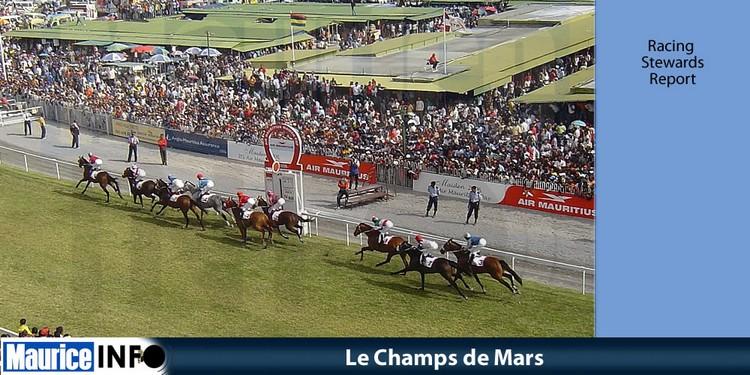 Racing Stewards' Report de la 7e et 8e journée hippique