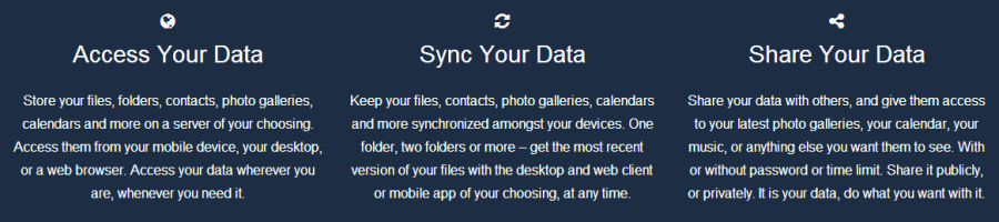 Click the link to leanr more  get ownCloud to install on your server