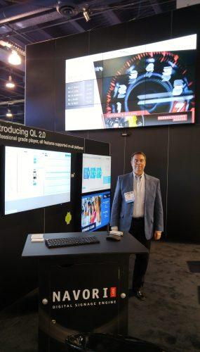 Digital Signage Expo - Navori QL Stix 3500 powering 9 display video wall