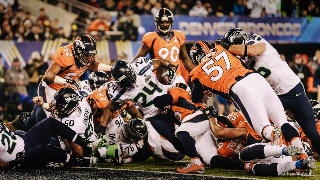 Marshawn Lynch touchdown in Superbowl 48