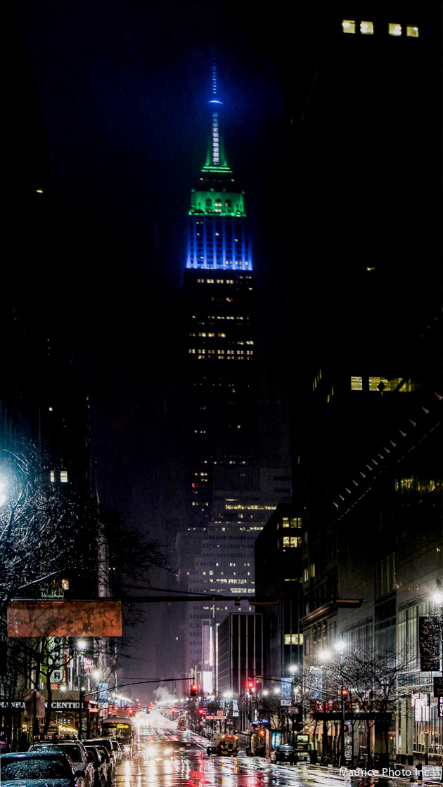 Empire State Building after Super Bowl 48 Seahawks