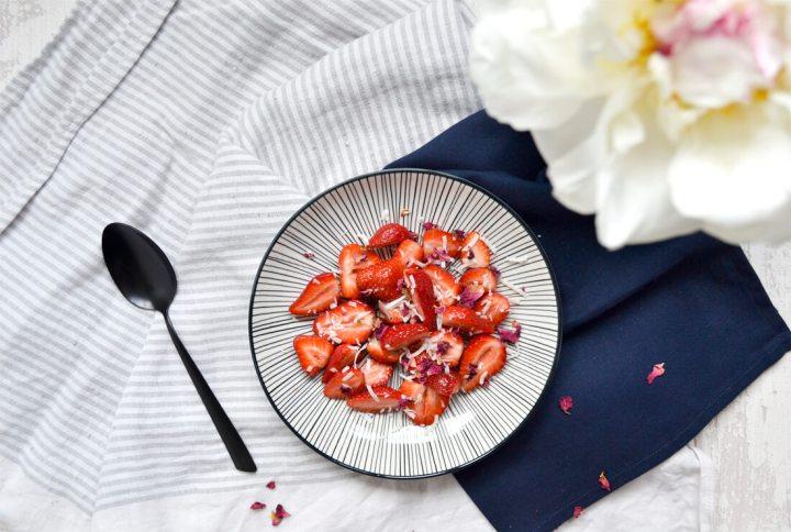 Dessert facile aux fraises