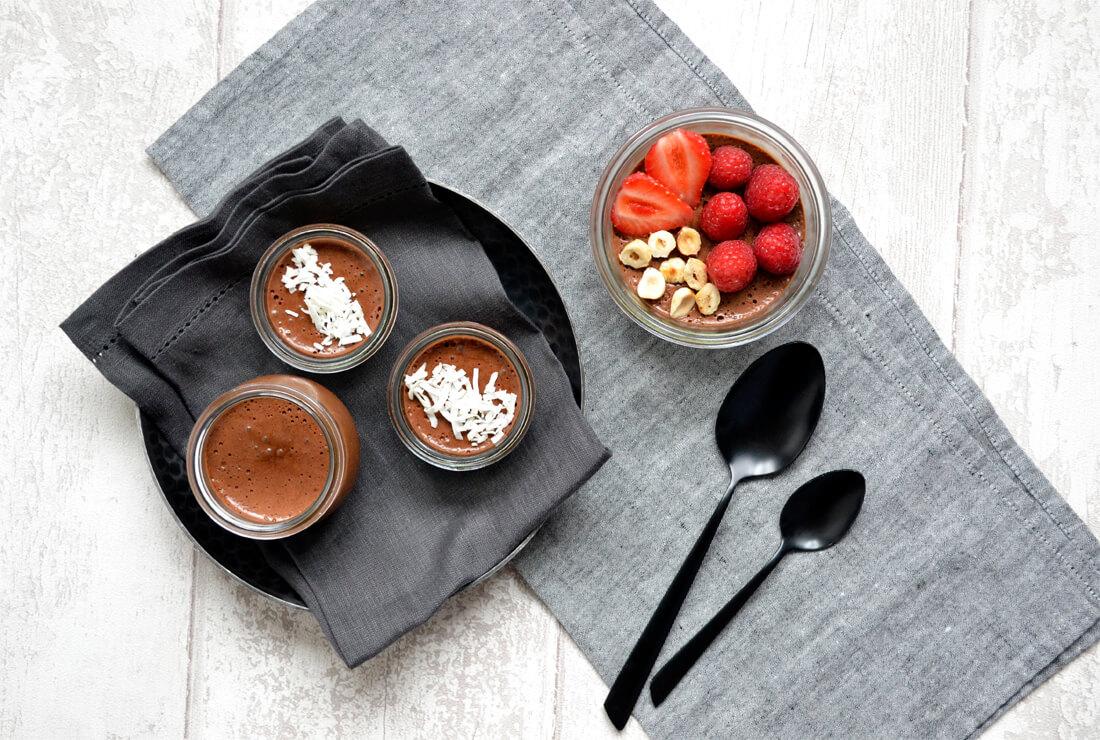 Mousse au chocolat sans oeuf au jus de pois chiches