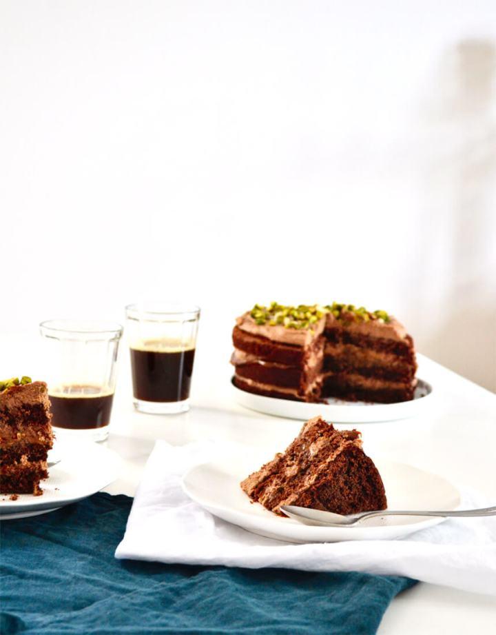 Layer cake chocolat et dulce de leche
