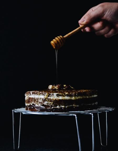 Layer cake potimarron châtaigne