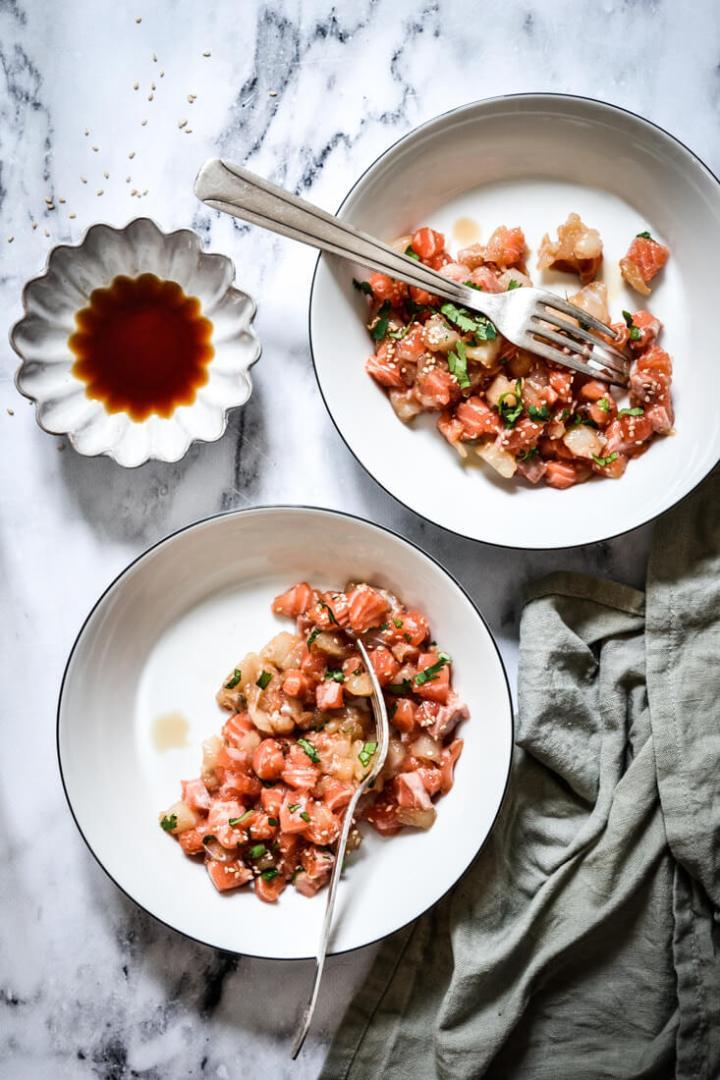 Recette au saumon et cabillaud