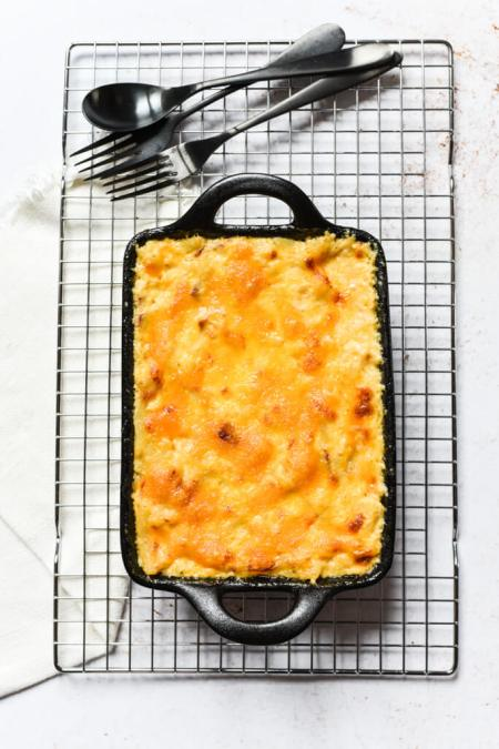 Mac and cheese au cheddar et chorizo