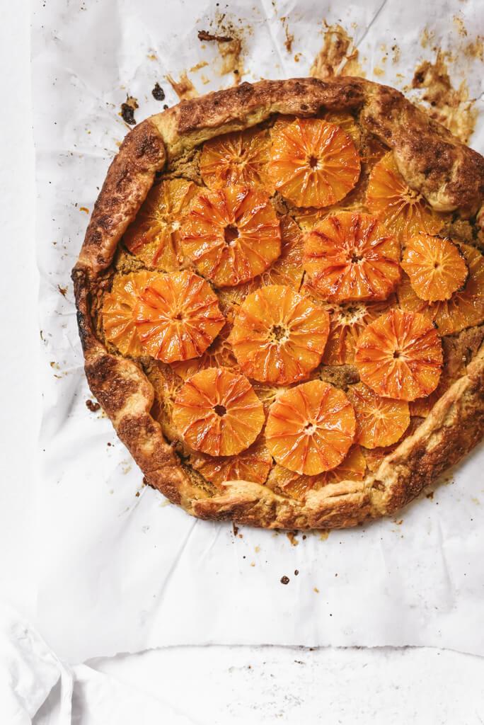 Tarte rustique à l'orange sanguine à crème d'amande
