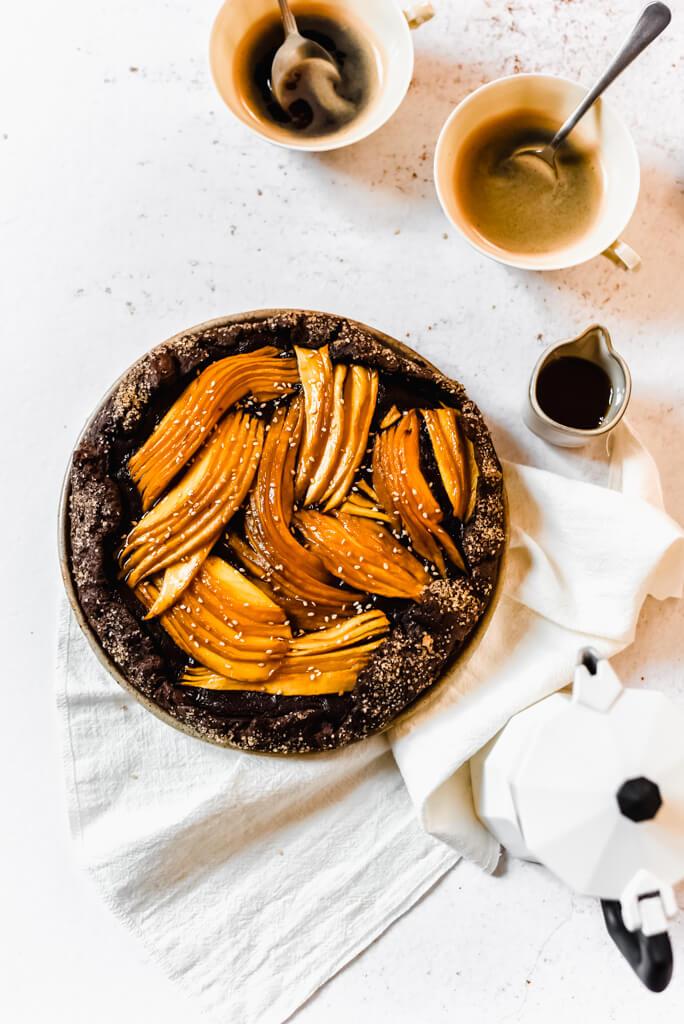 Tarte rustique pâte au cacao