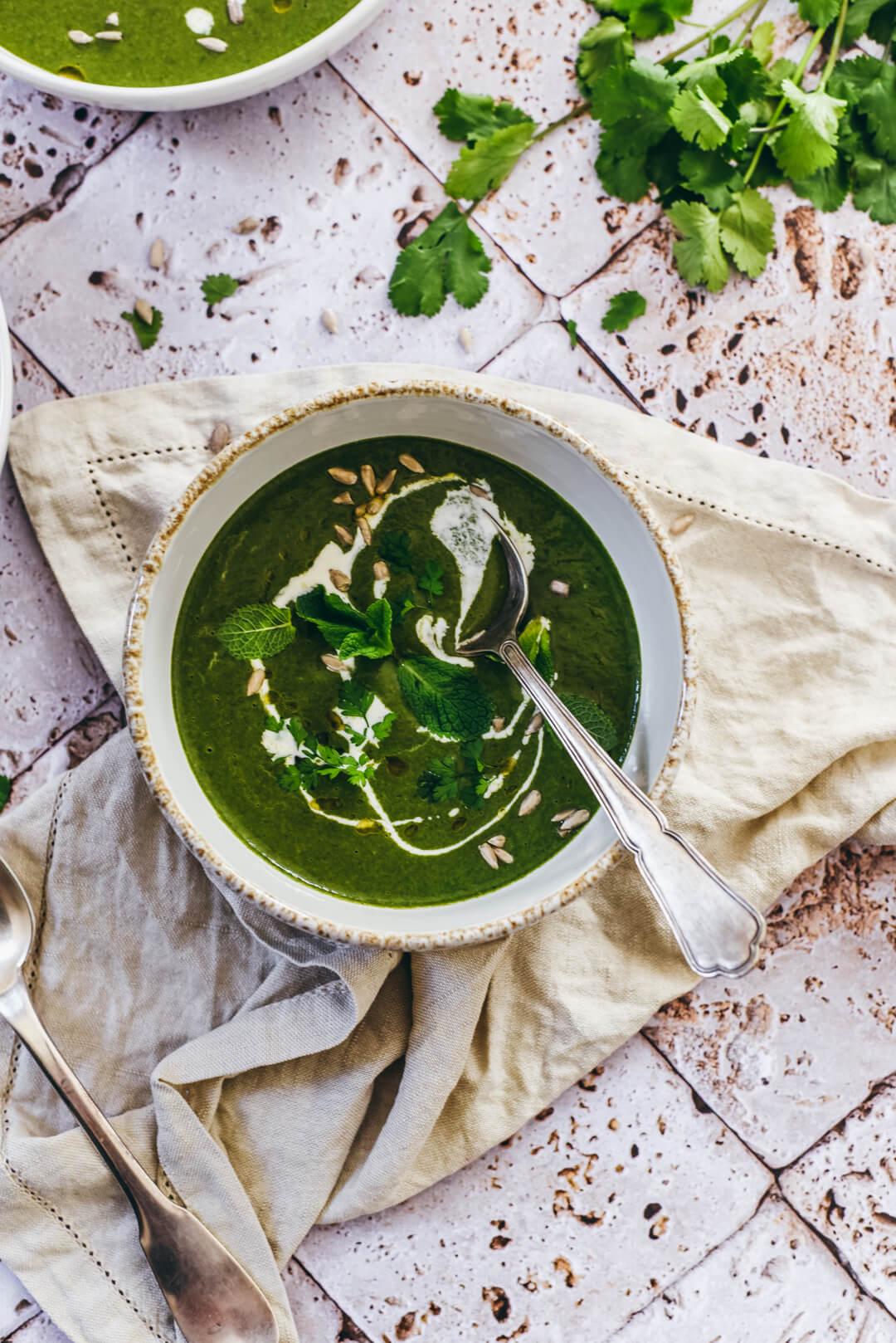 Soupe d'épinards