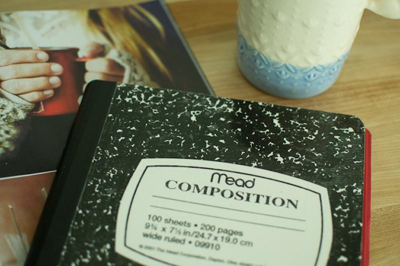 diy composition book ipad cover