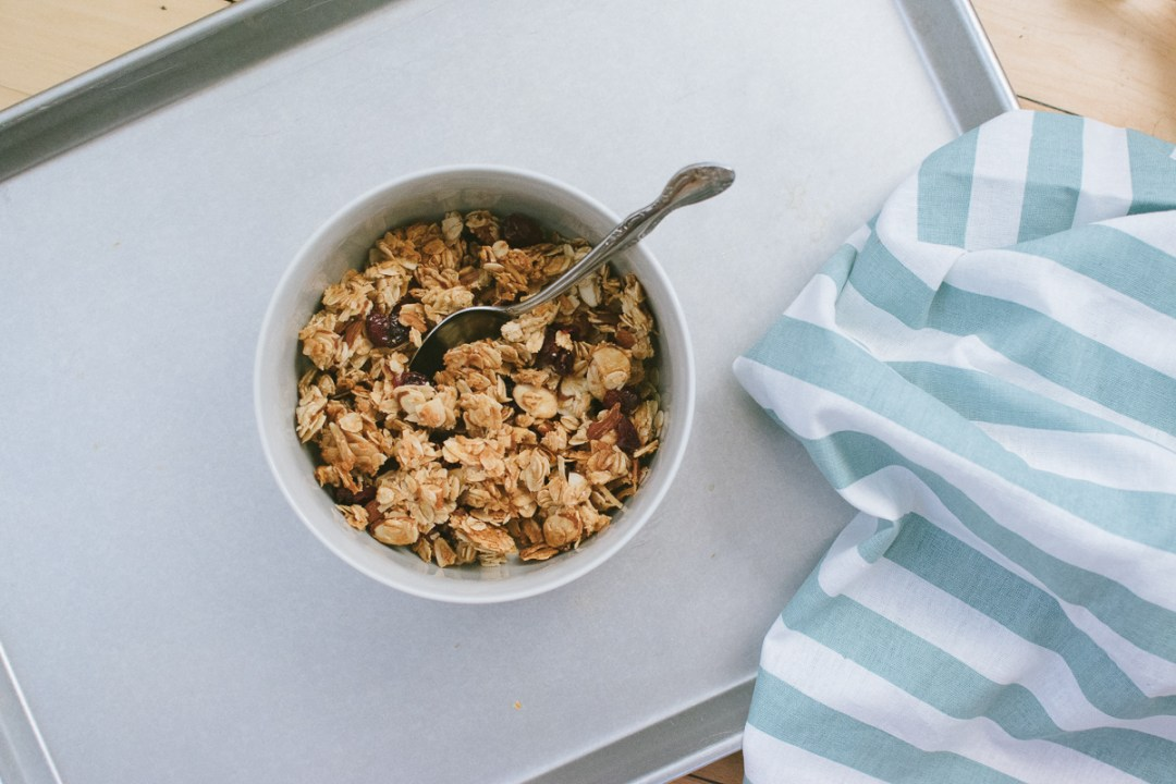 chunky cranberry coconut granola