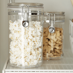 clear acrylic canisters