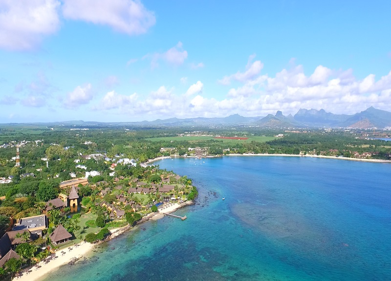 Baie aux tortues or Turtle bay in Mauritius