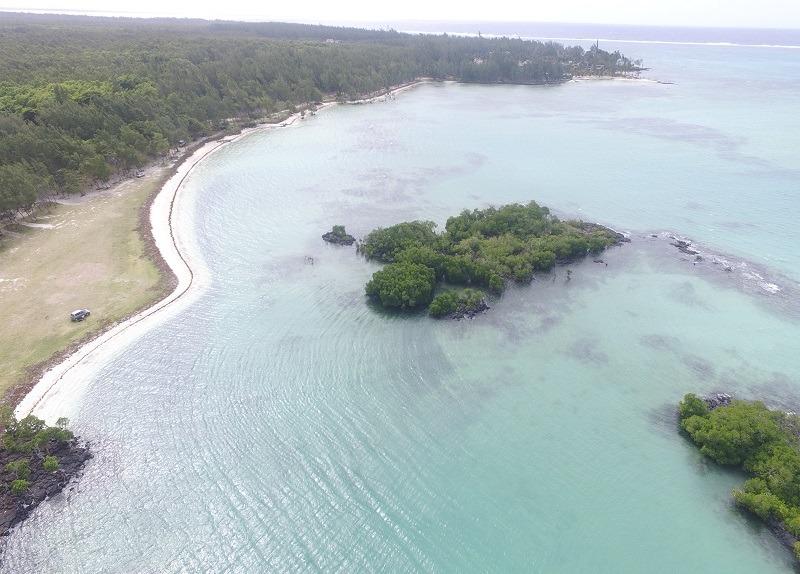 Bras d'eau beach in Mauritius